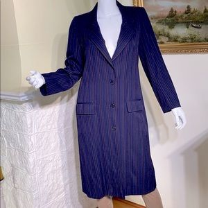 Ungaro Parallele Paris Vintage Pin Stripe Coat